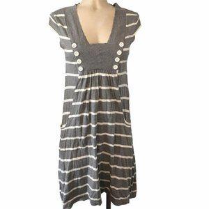 Cotton by AUTUMN CASHMERE Pocket Striped Dress M
